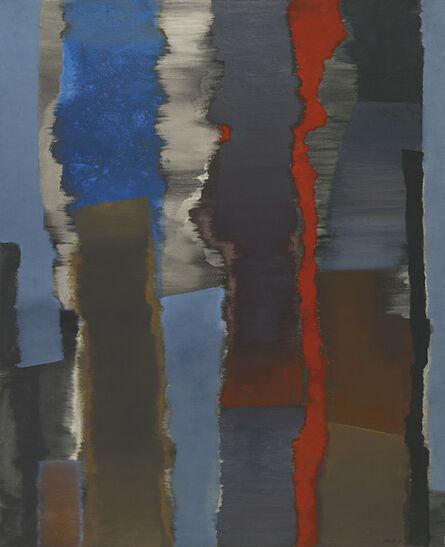 Fritz Winter, 'Räume vertikal – mit Rot', 1966