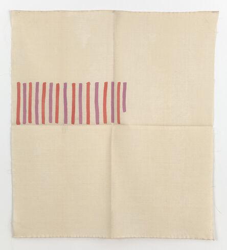 Giorgio Griffa, 'Verticale bicolore', 1976