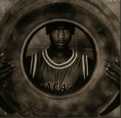 Jack Spencer, 'Junebug with Tire, Como, Mississippi', 1995