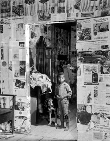 Margaret Bourke-White, 'Little Boy with Hound Dog', 1936