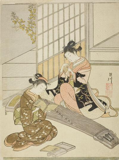 Suzuki Harunobu, 'Burning Maple Leaves to Heat Sake', 1768