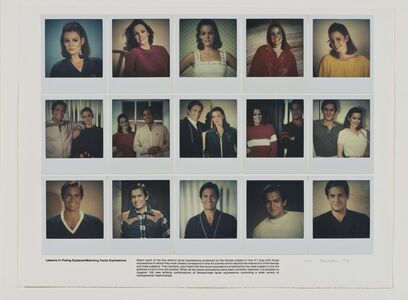 Robert Heinecken, 'Lessons in Posing Subjects/Matching Facial Expressions'