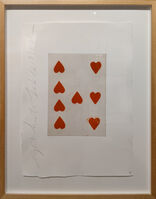 Donald Sultan, 'Eight of Hearts', 1990