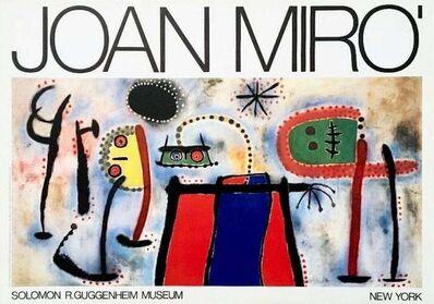 Joan Miró, 'Guggenheim Museum 1966 Exhibition Poster', 1966