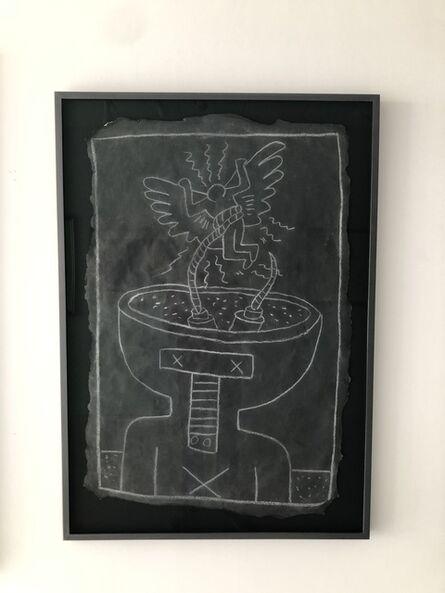 Keith Haring, 'Robot & Angel', ca. 1980