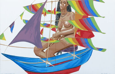 Philip Pearlstein, 'MODEL WITH CHINESE KITE', 2005