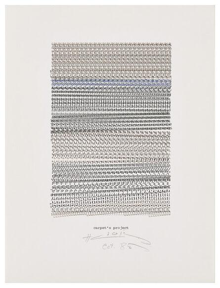Henri Chopin, 'Carpet's Project', 1985
