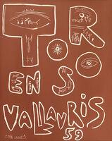 Pablo Picasso, 'Toros en Vallauris', July 1959