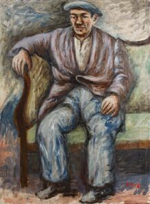 Ottone Rosai, 'Man on the couch', 1948