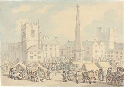 Thomas Rowlandson, 'Market Day at Richmond in Yorkshire', ca. 1818
