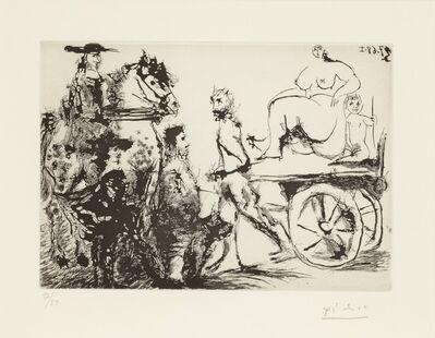 Pablo Picasso, 'Don Quichotte, Sancho et un 'Mousquetaire'Regardant Passer Dulcinée sur une CharretteTirée Par un Homme Masqué, 3.7.68 I', 1968