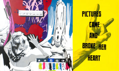 Stuart Semple, 'PICTURES CAME AND BROKE HER HEART', 2015