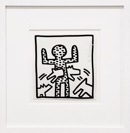 Keith Haring, 'Dog Hoop', 1982