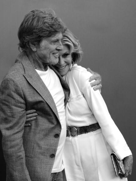 Mart Engelen, 'Robert Redford and Jane Fonda, Venice ', 2017