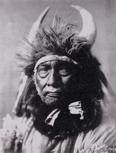 Russell Young, 'Bull Chief Apsaroke, Black & White', 2010
