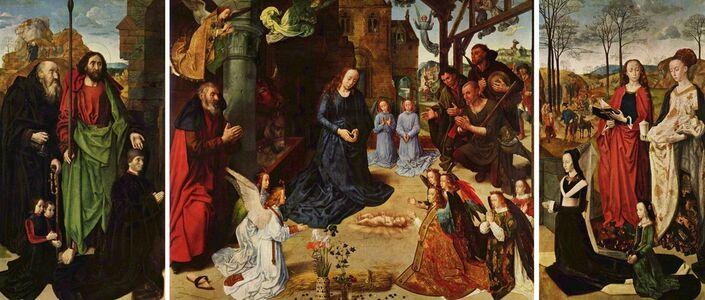 Hugo van der Goes, 'Portinari Altarpiece (open)', ca. 1474-76