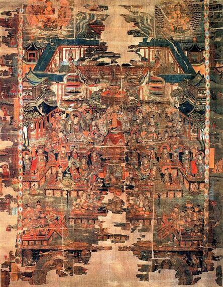 'Paradise of Bhaishajyaguru, Tang dynasty, from Cave 17, Mogao, near Dunhuang, Gansu province, China', 9th century