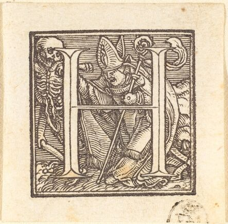 Hans Holbein the Younger, 'Letter H'