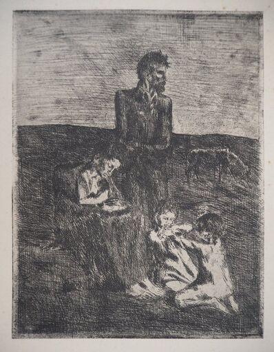 Pablo Picasso, 'Les Saltimbanques: The Poor - Original etching, 1905', 1905