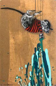Hama Woods, 'Rat painting Turquoise', 2018
