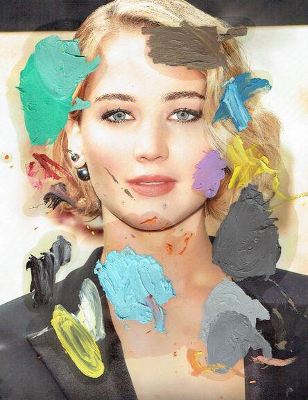 Michael Pybus, 'Painting Palette (Jennifer Lawrence 3', 2015