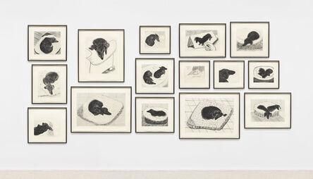 David Hockney, 'Dog Wall', 1998