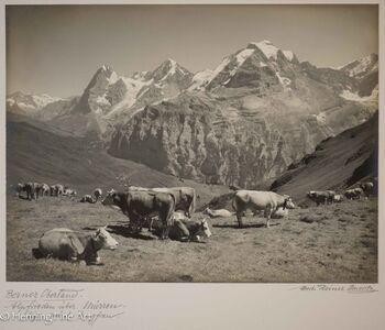 "Albert Steiner, '""Berner Oberland. Alpfrieden uber Murren. Eiger-Monch-Jungfrau.""  (Bernese Oberland. Alpfrieden above Murren. Eiger-Monch-Jungfrau.)', 1925-1950"