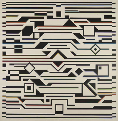 Victor Vasarely, 'GIZEH-K', 1957-1972