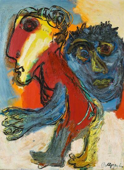 Karel Appel, 'Personnage et tête', 1954