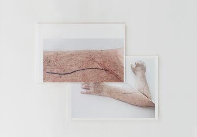 Peter Welz, 'Study for a Portrait (AA Bronson | tattoo) 03', 2019
