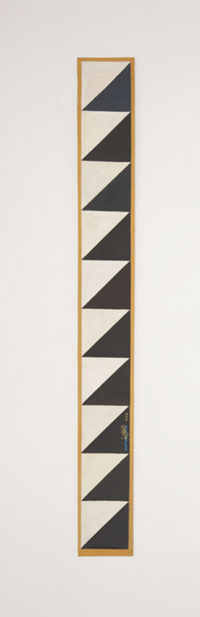 Chant Avedissian, 'B11 - Ancient Egyptian pattern, dark grey triangles on white', 2016