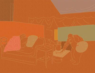 Milton Glaser, 'Monet Reaching for His Pallet', 2014