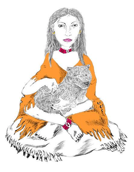 Gerald Wiggins, 'Girl and Fox', 2014
