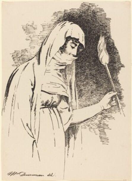 John Downman, 'Oriental Woman, Holding a Torch', 1806