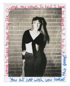 Jim Goldberg, 'Jeanette', 1988