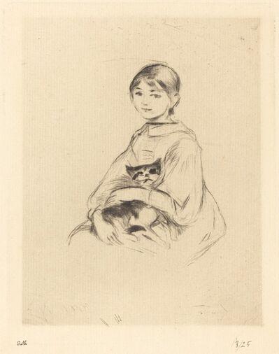 Berthe Morisot, 'Little Girl with Cat', 1888/1890