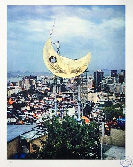 JR, 'Casa Amarela, JR on the moon, Rio de Janeiro, Brazil, 2017', 2018