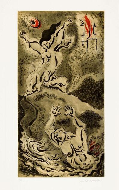 """André Masson, ' Héro et Léandre des """"Amants Célèbres""""', 1979"""