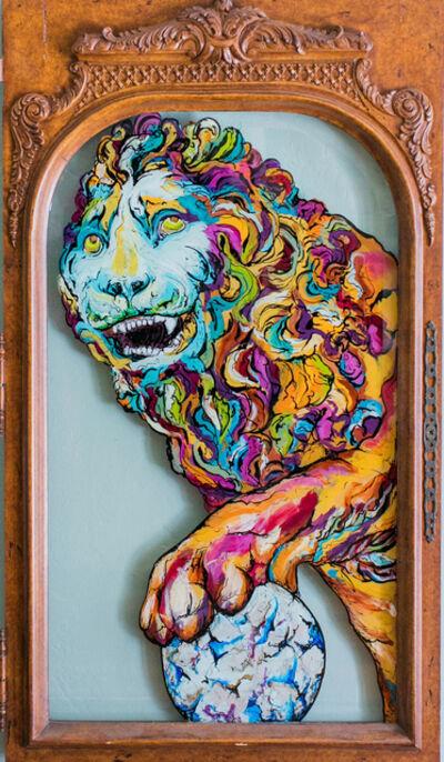 Whitney Pintello, 'Medici- Mythological Greek Painting on Vintage Glass Window', 2020
