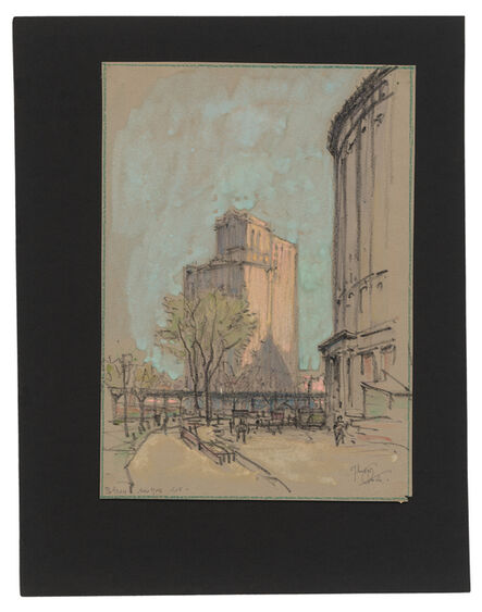 Jules Andre Smith, 'A View of Battery Park Featuring the Whitehall Buildings (1902 and 1910)', 1915