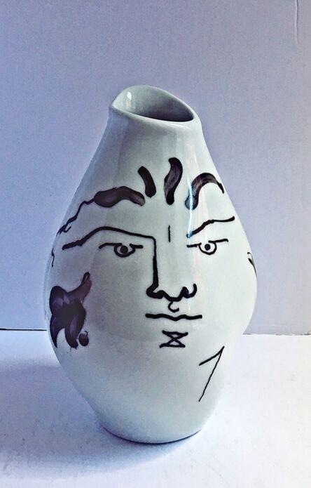 """Jean Cocteau, '""""Tetes"""" (Porcelain Vase)', 1952"""