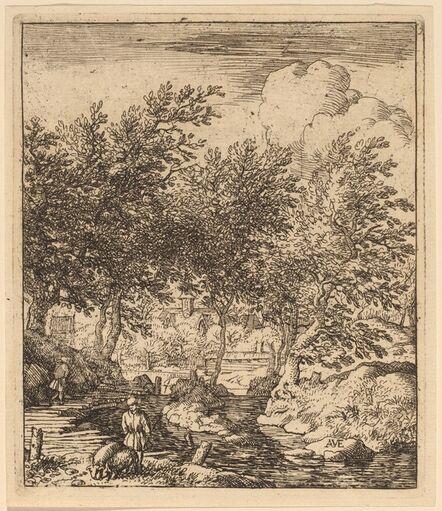 Allart van Everdingen, 'Swineherd', probably c. 1645/1656