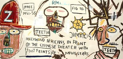 Jean-Michel Basquiat, 'HOLLYWOOD AFRICANS IN FRONT OF THE CHINESE THEATER WITH FOOTPRINTS OF MOVIE STARS', 2015