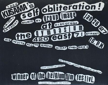 Yayoi Kusama, 'Kusama Self Obliteration (60s Kusama announcement)', 1968