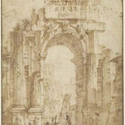 Circle of Giovanni Paolo Panini, 'Arch of Titus'