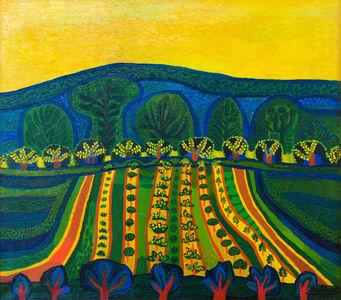 Josef Scharl, 'Blühende Felder', 1946