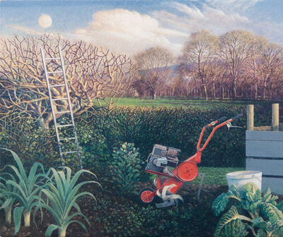 James Lynch (b. 1956), 'The Ladder and the Moon, Spring Equinox'