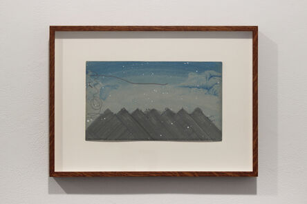Hamish Fulton, 'MOUNTAIN SKYLINE A 21 DAY WALKING JOURNEY  VIA THE TOPS OF SEVEN SMALL ENGADIN MOUNTAINS  SWITZERLAND SUMMER 2007'