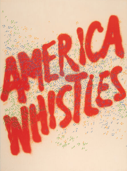Ed Ruscha, 'America Whistles', 1975