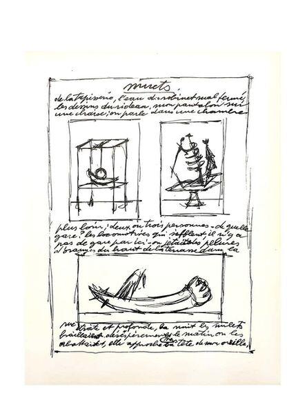 Alberto Giacometti, 'Original Lithograph by Alberto Giacometti', 1952